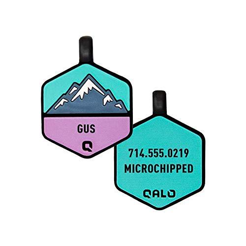 QALO Customized Silicone Dog ID Tag - Bloom Mountain
