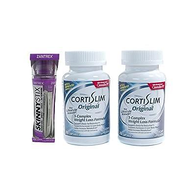 Basic Research Zantrex Skinny Stix Grape 25 ea and Cortislim Original Two Bottles