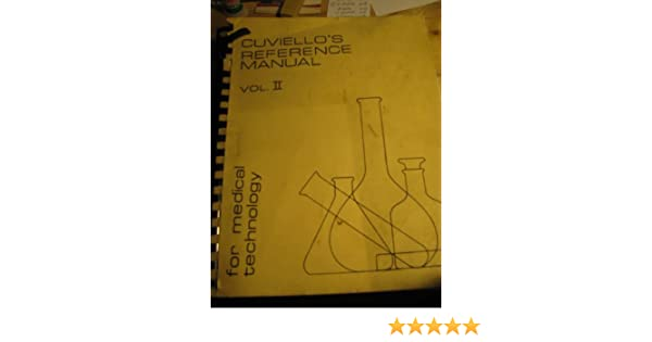 cuviello s reference manual for medical technology volume ii ms rh amazon com PC Manual Reference SAP Manual Reference