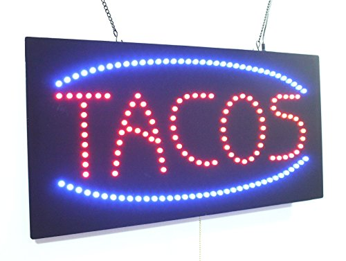 Tacos Sign, Super Bright High Quality LED Open Sign, Stor...