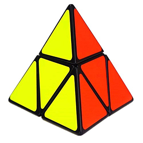 CuberSpeed Pyramorphix Black Magic Cube 2x2 Pyramid Speed Cube