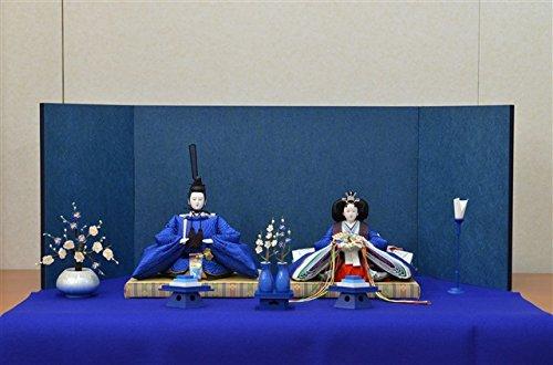 ひな人形 きよら スカイブルー コンパクト中型 フルタイプ 親王毛せん飾りka37bl 132151   B01N0XKMH4