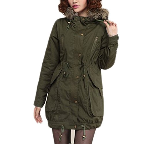 online store bbced 6d233 Bestfort Warm Mantel Damen Wolle Jacke Wintermantel mit ...