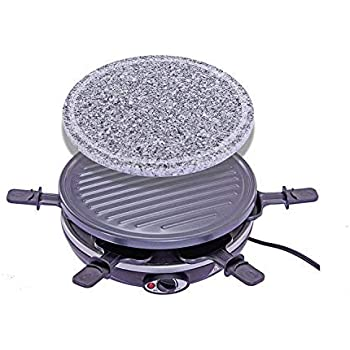 Amazon.com: King of Raclette 2 IN 1 ROUND Party BBQ Grill ...