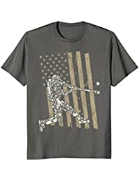 Patriotic American Flag Baseball Player Shirt : Vintage Gift