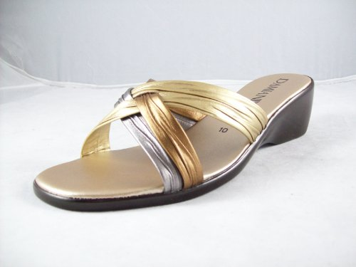 Womens Damianis by Italian Shoemakers Sandals - Metallic Multi (#162) Metallic Multi 0UVJM