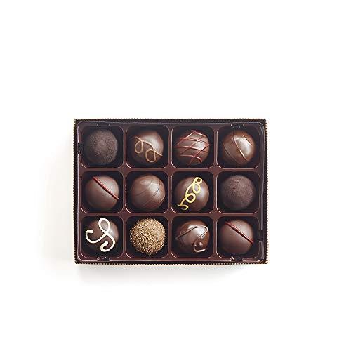 Godiva Chocolatier Dark Chocolate Truffles Gift Box, Great for Gifting, Dark Chocolate Treats, Gifts for Her, Mothers Day Gifts, 12 Piece by GODIVA Chocolatier (Image #1)