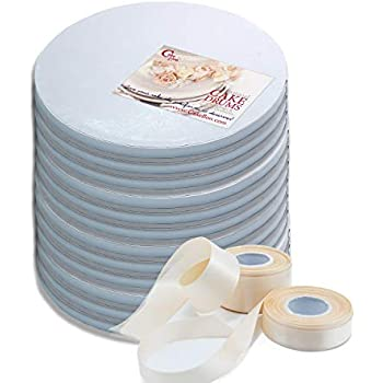 Covers Top and Sides Silver Pack of 12 Round Cake Drum 12 W PACKAGING WPDRM12S 1//2 Thick Corrugated with Coated Embossed Foil