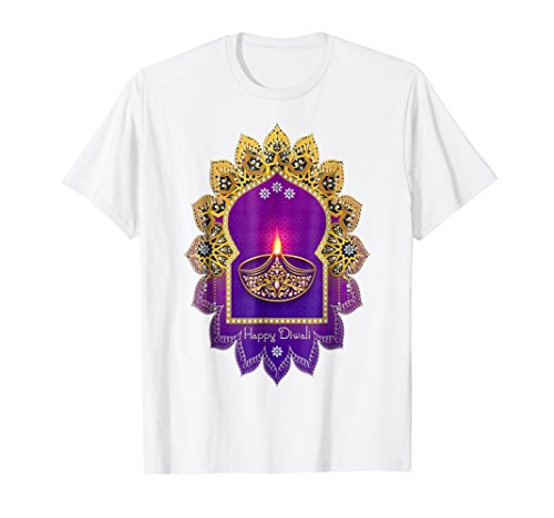 Happy Diwali Festival Of Lights Emblem 1 - Fun T-Shirt by EDDArt