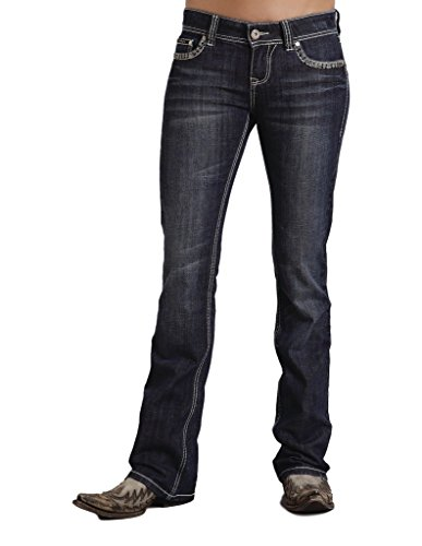 Stetson Womens 818 Fit Contemporary Contrast Stitch Bootcut Jeans