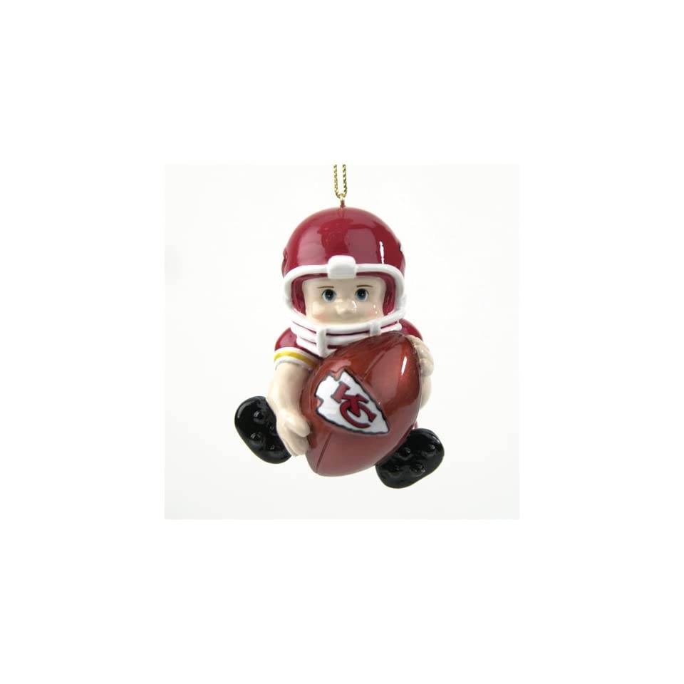 Pack of 8 NFL Kansas City Chiefs Lil Fan Football Player Christmas Ornaments
