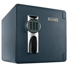 Safeguard your valuables against theft, water, and fire with the First Alert 2092DF-BD Waterproof and Fire-Resistant Bolt-Down Digital Safe. Featuring a capacity of 1.3 cubic feet, this waterproof safe offers enough space to store money, docu...