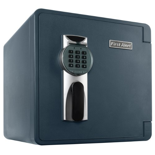 First Alert 2092DF Waterproof 1-Hour Fire Safe with Digital Lock, 1.3 Cubic Feet, Gray