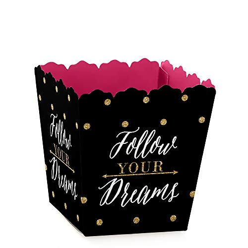 (Dream Big - Party Mini Favor Boxes - Graduation Party Treat Candy Boxes - Set of 12 )