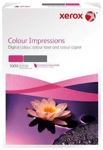 Xerox 003R97671 Premium Farblaser-Papier Druckerpapier, Colour Impressions, Din A3, 250 g/m², 125 Blatt, Farblaser- und Inkjetdruckern, weiß