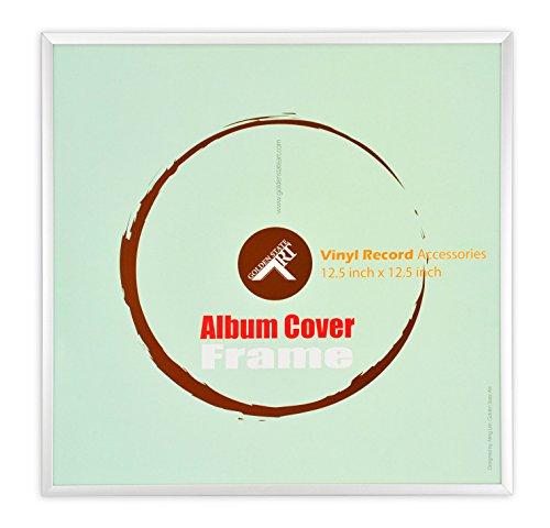 Golden State Art, 12.5 x 12.5 Aluminum Vinyl Record Cover Frame (Silver)