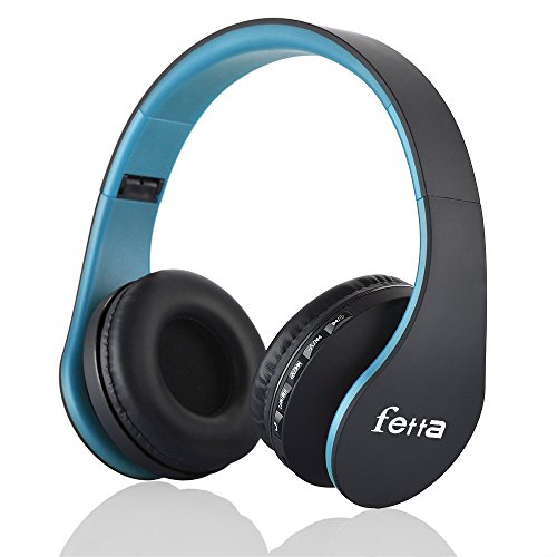 Wireless Stereo Bluetooth Headphone Mobile Cell Phone Laptop (Blue) - 5
