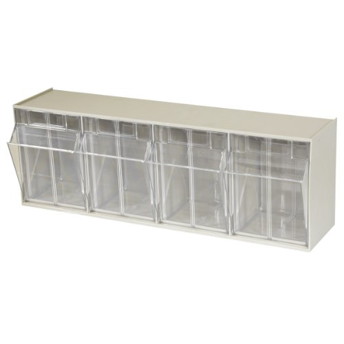 Akro Mils TiltView Horizontal Plastic Storage