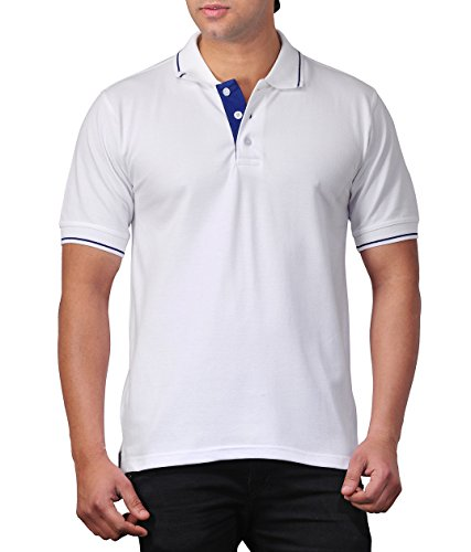 Scott Men's Premium Cotton Polo T-shirt – White – FBAsp10l