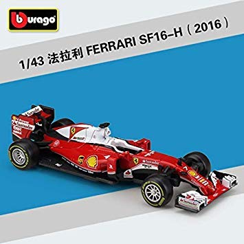 1 43 Scale 2018 Metal F1 Formula 1 Racing Car Model SF16H&70H&71H Alloy Toy Car Diecast Educational Collection Model Kid Gift 2016 SF16H NO.7