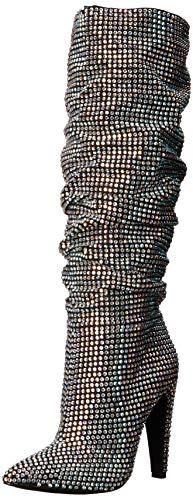 Steve Madden Women's Crushing Slouch Boot, Rhinestone, 8.5 M - Steve Crystal Madden