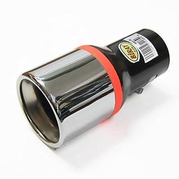 Autohobby 206 - Embellecedor de tubo de escape universal de acero inoxidable hasta 57 mm de diámetro, cromado: Amazon.es: Coche y moto