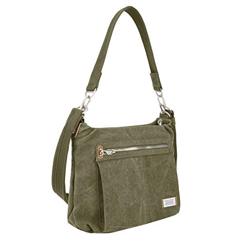 Large Accented Hobo - Travelon Anti-Theft Heritage Hobo Bag Cross Body, Sage, One Size