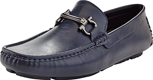 'Marco Vitale Men\'s Slip On Loafers Drivers Shoe, Navy, 9.5 D(M) - S Marcos