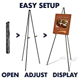 "Quartet Easel, Portable Tripod, 63"" Max. Height"
