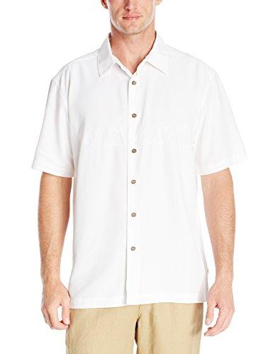 - Quiksilver Waterman Men's Tahiti Palms 4 Woven Shirt, White, Large L