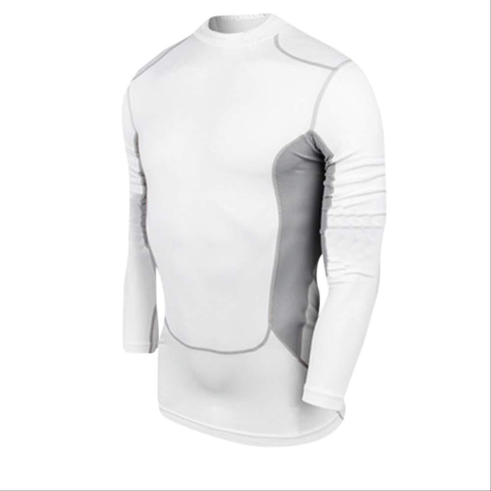 blanc XXL NUASH EntraîneHommest Soccer Jersey Gilet Compression Fitness T-Shirt Costume Serré Costume De Sport Maigre Chemises Longues pour Hommes