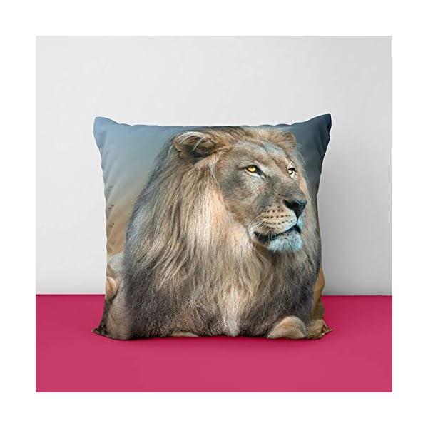 41Uq0lS0HZL Lion King Square Design Printed Cushion Cover