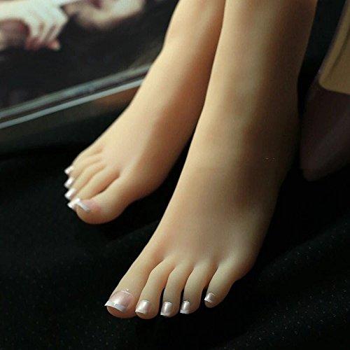 足 模型 興奮 女の子 足 リアル 女性 23cm アンクレット +DIY ネイル シリコン 足模型 撮影 商品販売 デザイン 足マネキン 3D 教学用 足フェチ アクセサリー 展示 B074DG69PW
