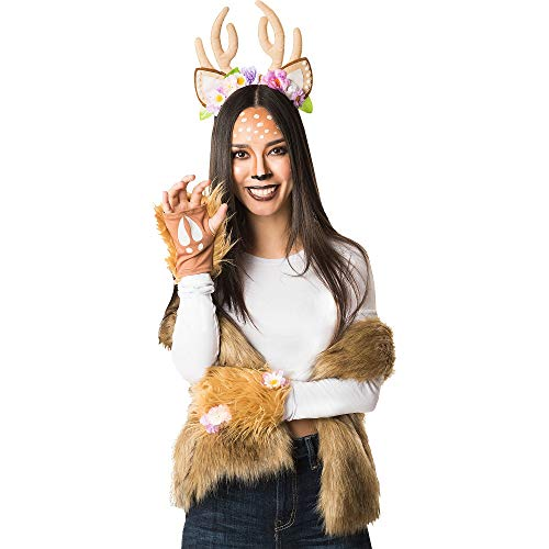 Papillion Accessories Woodland Deer Halloween Costume Accessory Kit for Women, 3 Pieces, by M&J Trimmings