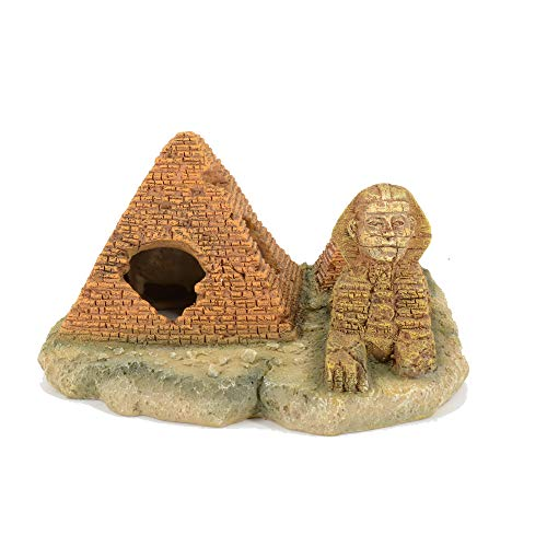 - BobbyPet Aquarium Decorating Shelter, Fish Tank Aquarium Cave Resin,Pyramid & Sphinx Hiding Spot ...