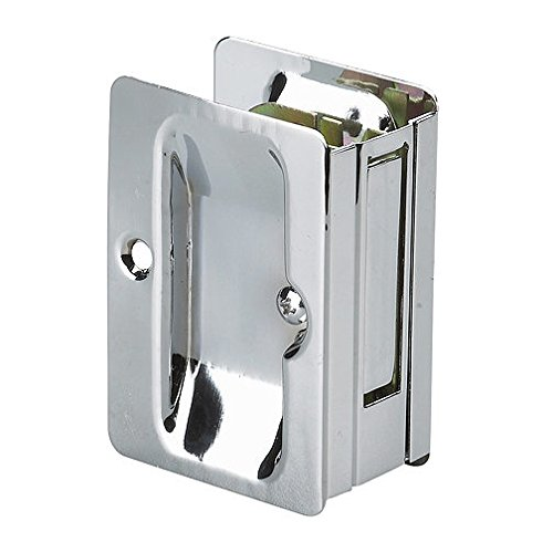 1700CPSBC - Pocket Door Pull with Passage Handle - Rectangular - Chrome Finish ()