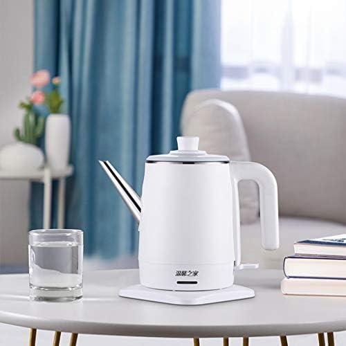 FYJK Wasserkocher, Edelstahl Wasserkocher Klein, 1.2L Elektro Wasserkocher - Perfekt für Reisen, Kaffee, Tee (White- 220V)