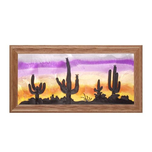 - Silver Creek Southwest Painted Glass Panel C-067