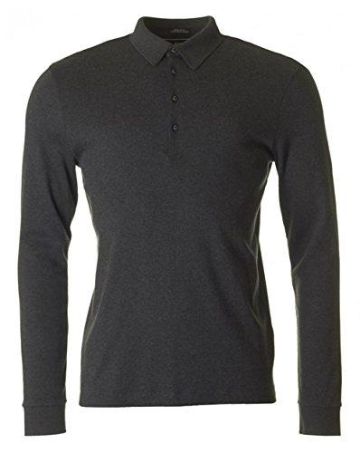 HUGO BOSS Herren Polo-Shirt Baumwolle T-Shirt Meliert, Größe: XXL, Farbe: Grau