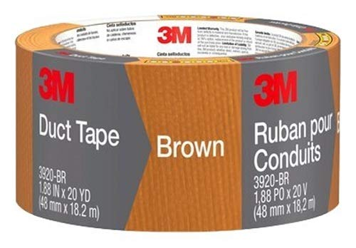 Scotch Durable Duct Tape, Brown, 1.88-Inch by 20-Yard -