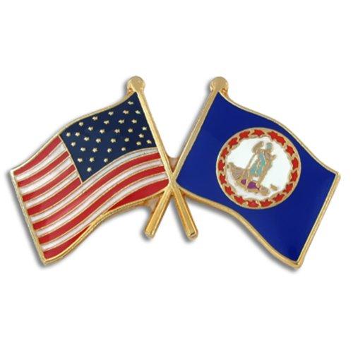 Virginia Flag Lapel Pin - 1