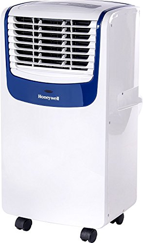 Cheap Honeywell Compact Portable Air Conditioner with Dehumidifier and Fan for Rooms up to 450 sq. ft. in White/Blue
