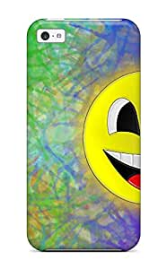 Perfect Fit AEUEpug4549kNkeN Happy Colorful Case For Iphone - 5c