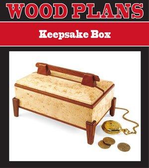 KEEPSAKE BOX WOODWORKING PAPER PLAN PW10018