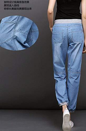 Hellblau Long Jean Et Pantalon Clair Dame Confortable Doux Jeans Décontracté Foncé Battercake Femme En Casual Vrac Bleu A4U7WaF