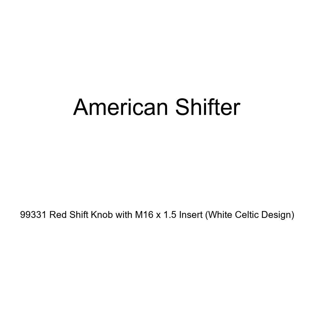 American Shifter 99331 Red Shift Knob with M16 x 1.5 Insert White Celtic Design