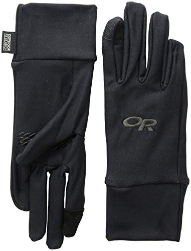 Outdoor Research Men's PL Base Sensor Gloves, Black, - Silk Lightweight Gloves