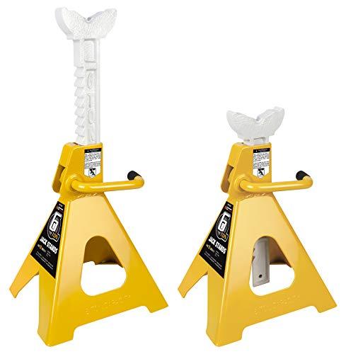 (Performance Tool W41023 6 Ton (12,000 lbs.) Capacity Heavy Duty Jack Stand set)