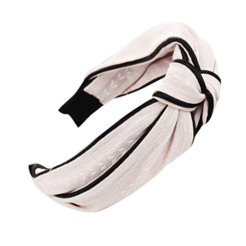 Pengy Bow Knot Print Hairband for Women Hair Head Hoop Simple Sweet Girls Headband Vintage Elastic Printed Head Wrap ()