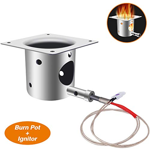 ANGINSTAR Fire Burn Pot+Ignitor, BBQ Replacement Parts for Traeger and Pit boss Pellet Grill Burner (Burn Pot+Ignitor)